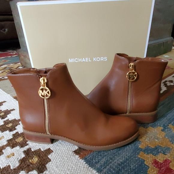 Michael Kors Lainey Flat Bootie Luggage